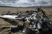 foto of conscript  - Helicopter shot down during the Falklands War of 1982 - JPG