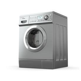 foto of washing machine  - Closed washing machine on white background - JPG