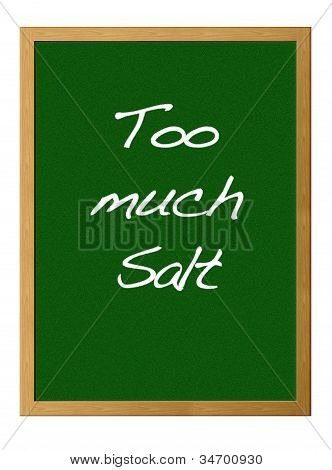zu viel Salz