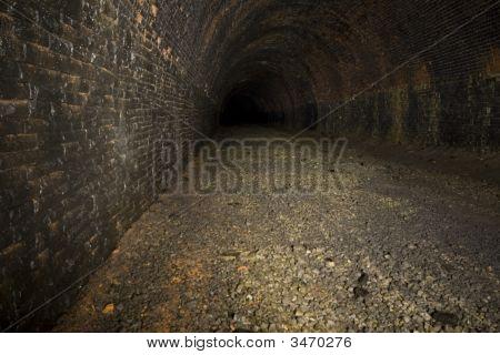 Dark Underground Railway Tunnels