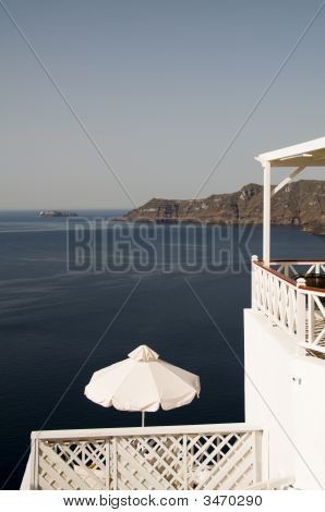 View Of Caldera From Patio Oia Santorini