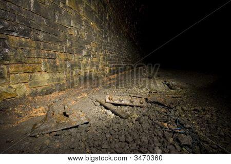 Rusted Rail And Sleeper Ironwork