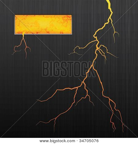 Vector illustration of abstract background. Lava. Crack.