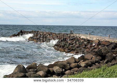 Rocks and Sea Barrage