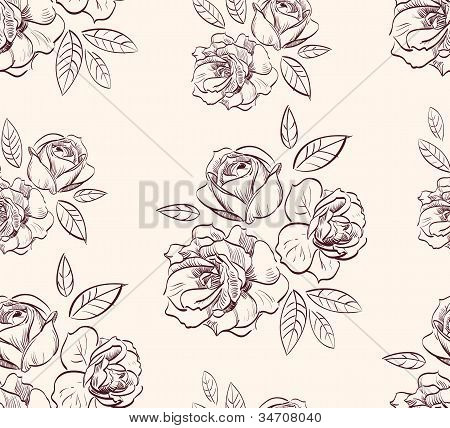 vintage floral rose  background