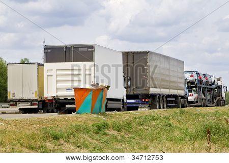 Parking Cargo Truck