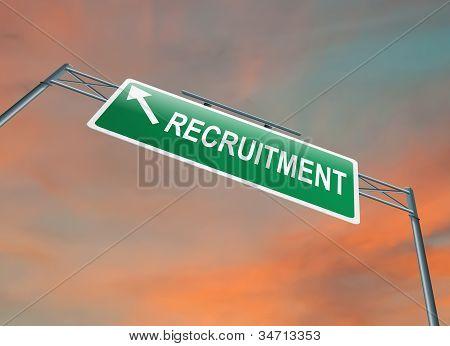 Rekrutierung-Konzept.