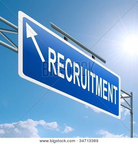 Concepto de reclutamiento.