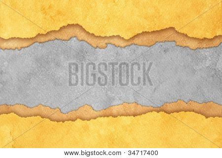 Grunge Gray Torn Paper Background