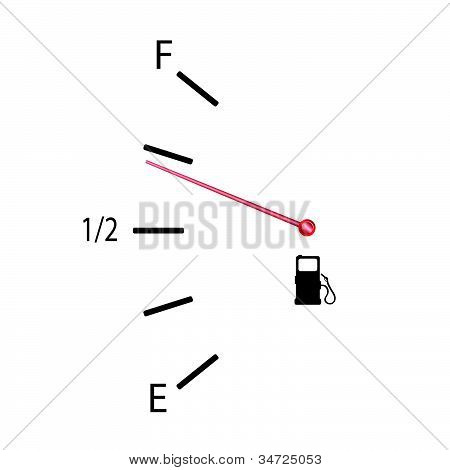 Fuel Gauge Vector Illustration With Symbol