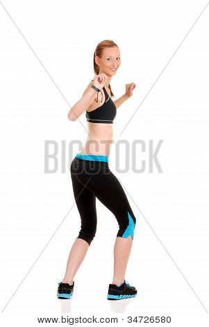 Woman doing fitness