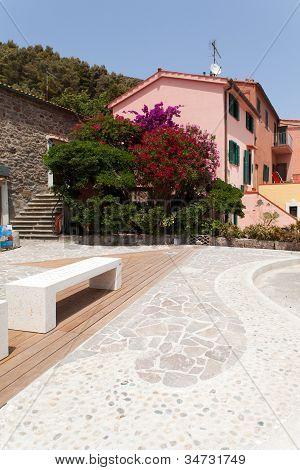Small Square, Capraia Island