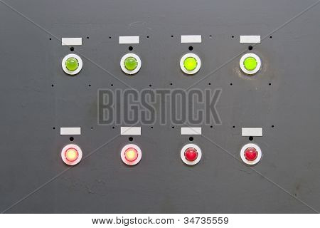 Gray electrical panel