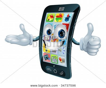 Cell Phone Man Character