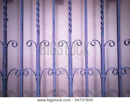 Purple Wrought Iron Fence