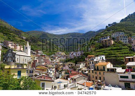 Villiage of Riomaggiore, Cinque Terre, Italy