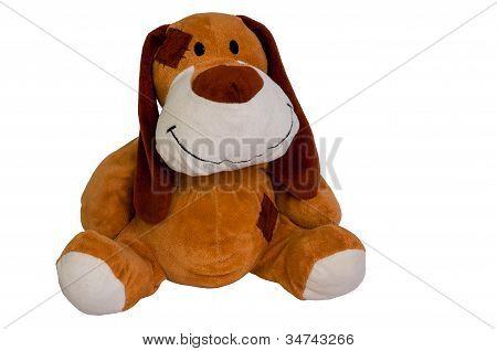 Happy plush toy dog