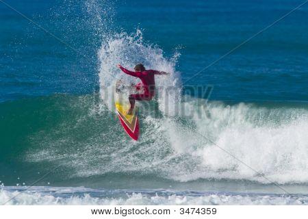 Surfer On A Big Wave