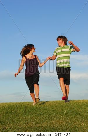 Frolicking Couple