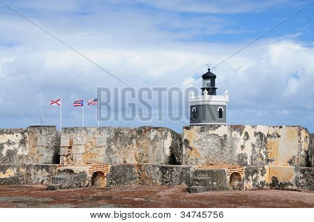 Flags, Fortress And Lighthouse