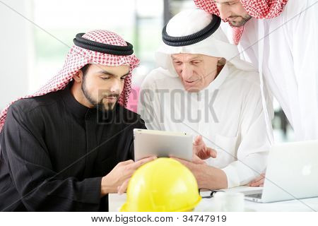 Architects Engineers business people sitting for a meeting