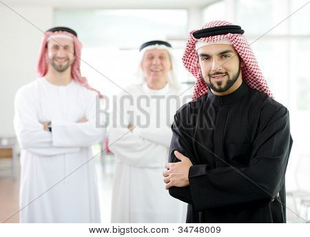 Arabic Middle eastern man at work