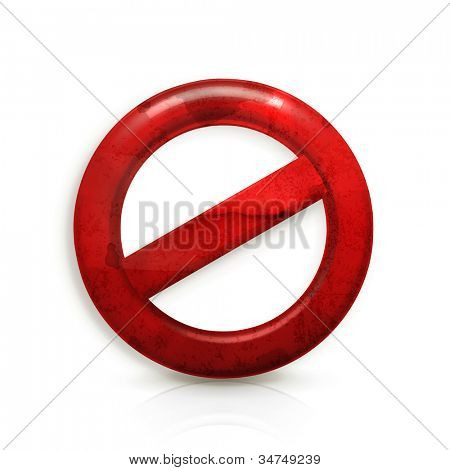 Do Not warning sign, old-style vector isolated