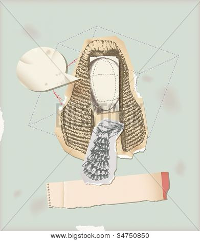 Through history- Character 1 � judge wig collage