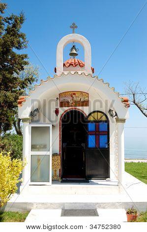 The Small Church At Hotel, Pieria, Greece