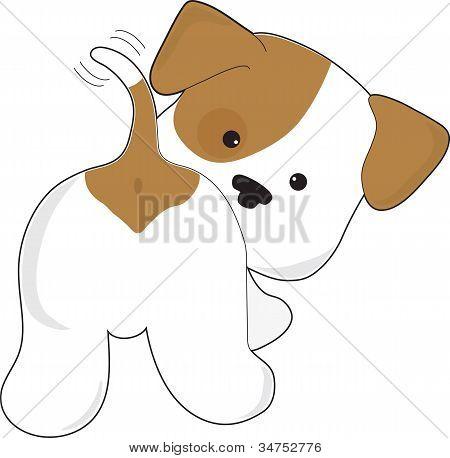Cute Puppy Rear View