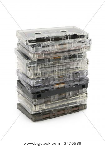 Stack Of Audio Cassettes