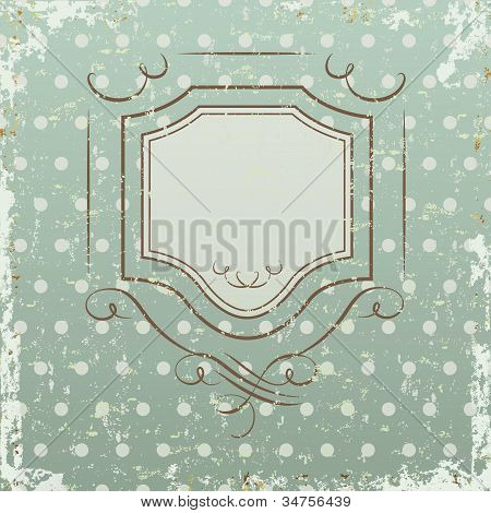 The grunge background with frame