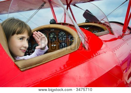 Girl And Airpalne