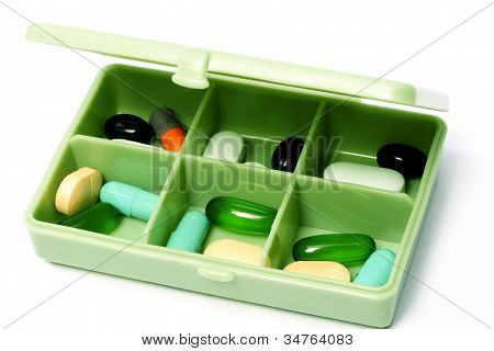 Pills In Pill Box