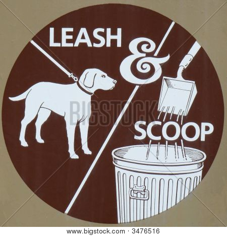 Leash And Scoop Pet Sign