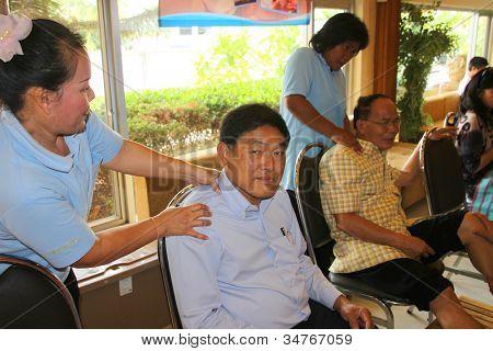 Reflexologia Massagem, tratamento de Spa do pé, Tailândia