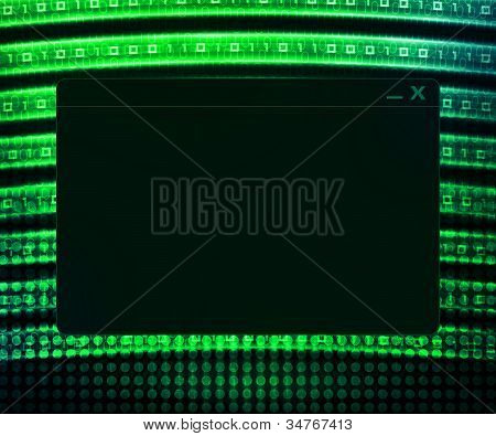 Green Window Technology Concept Background