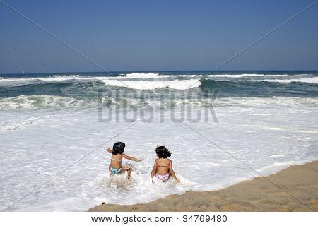 beautiful girl in bikini in the beach, summer photo
