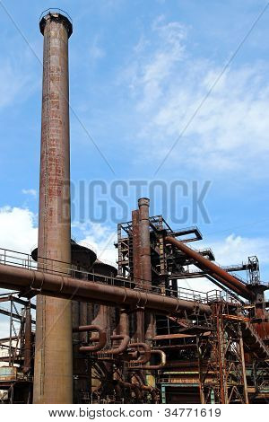 Old Blast Furnace Of Steel Factory