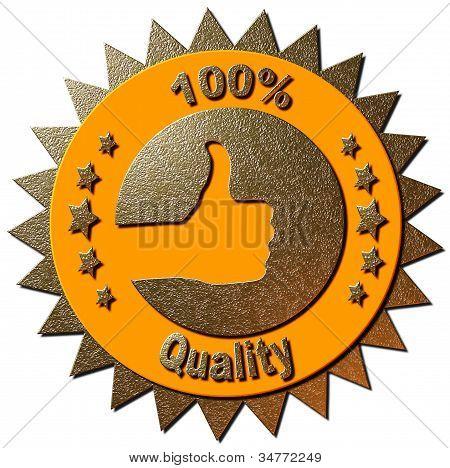 100% Quality (Orange)