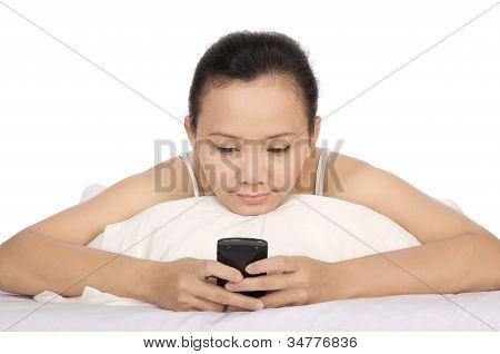 Woman Using Cellphone