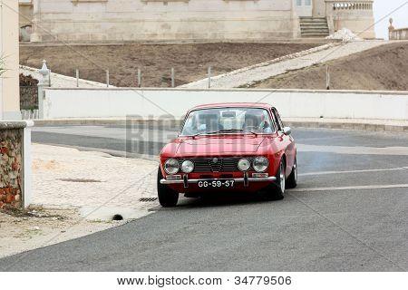 Foz Do Arelho, Portugal - May 13: Alberto Fonseca Drives A Alfa Romeo Gtv During Rally Sprint Foz Do