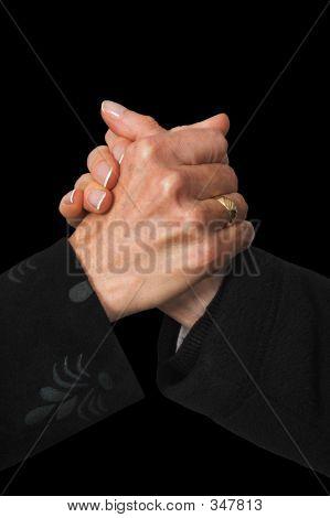 Business Handshake On Black