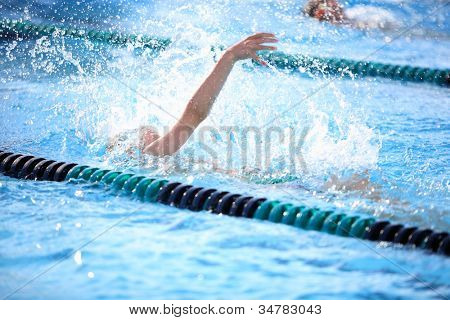 Backstroke race