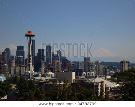 Seattle Skyline Original Orange
