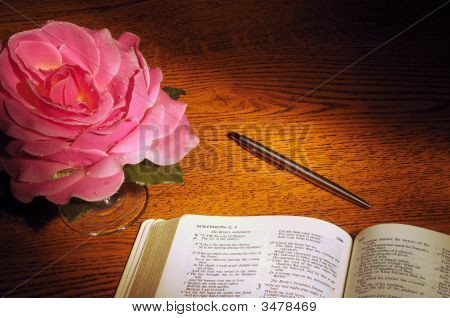 Bible, Pen, & Rose