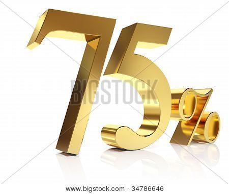 Seventy five percent 3D in gold