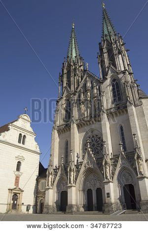 Saint Wenceslas Cathedral In Olomouc( Czech Republic. )
