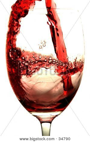 Rot Wein Splash