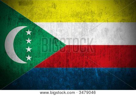 Grunge Flag Of Comoros